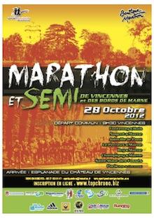 Marathon de Vincennes et des Bords de Marne – 28 octobre2012