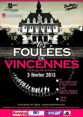 Les Foulées de Vincennes – 10 km – 3 février2013