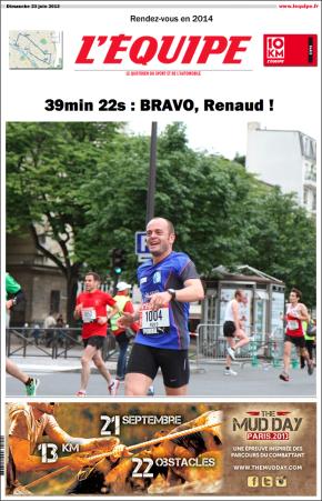 Les 10km L'Equipe – 23 juin2013