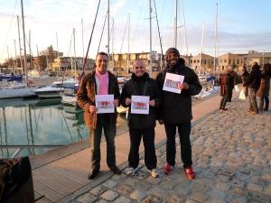 Laurent, Renaud et Bernard